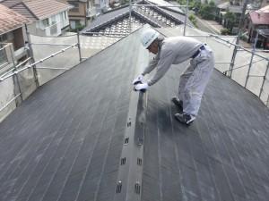 筑紫野市 T様邸 塗装工事 屋根塗装 棟板金 ケレン