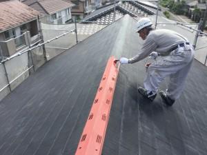 筑紫野市 T様邸 塗装工事 屋根塗装 棟板金 錆止め