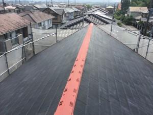 筑紫野市 T様邸 塗装工事 屋根塗装 棟板金 完了