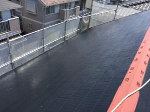 筑紫野市 T様邸 塗装工事 屋根塗装 下塗り 完了