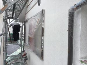 筑紫野市 T様邸 外壁塗装 下塗り 完了