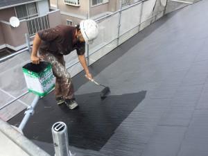 筑紫野市 T様邸 塗装工事 屋根塗装 上塗り1回目