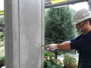 大野城市 塗装工事 K様邸 シーリング打替え 撤去状況