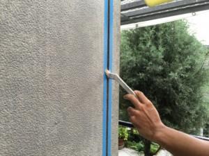 大野城市 塗装工事 K様邸 シーリング打替え シールプライマー施工中