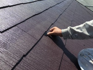 大野城市 塗装工事 K様邸 屋根塗装 縁切部材 取付け状況