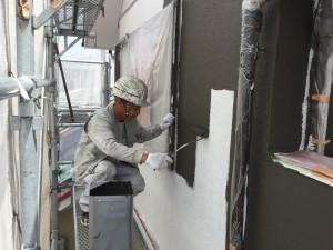 筑紫野市 塗装工事 T様邸 外壁塗装 中塗り