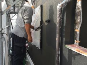 筑紫野市 塗装工事 T様邸 外壁塗装 上塗り