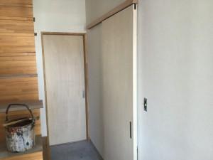 福岡市 H様邸 新築 内部塗装工事 建具 施工前