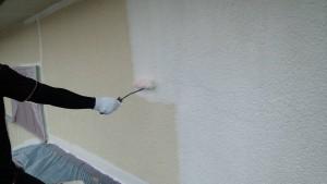 太宰府市 塗装工事 S様邸 外壁 下塗り