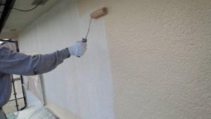 太宰府市 塗装工事 S様邸 外壁 中塗り