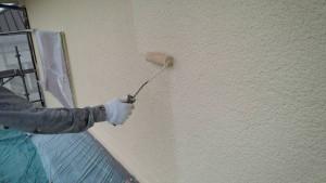 太宰府市 塗装工事 S様邸 外壁 上塗り