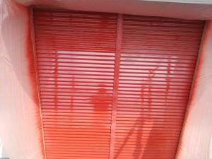 筑紫野市 塗装工事 K様邸 雨戸 塗装 下塗り 完了
