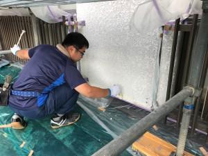 熊本県 塗装工事 外壁塗装中