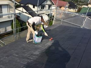 筑紫野市 塗装工事 K様邸 屋根塗装 1液ベストシーラー