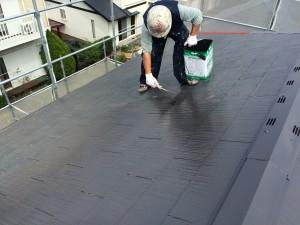 筑紫野市 塗装工事 K様邸 屋根塗装 ファインパーフェクトベスト1回目