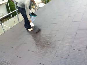 筑紫野市 塗装工事 K様邸 屋根塗装 ファインパーフェクトベスト2回目