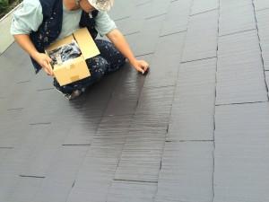 筑紫野市 塗装工事 K様邸 屋根塗装 タスペーサー取付け