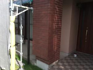 筑紫野市 K様邸 塗装工事 磁器タイル 撥水塗装