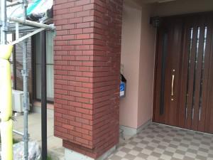 筑紫野市 K様邸 塗装工事 磁器タイル 撥水塗装 完了