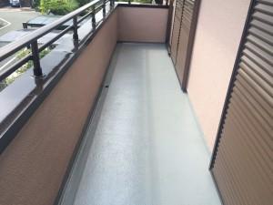 筑紫野市 K様邸 塗装工事 バルコニー床 完了