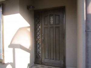 筑紫野市 K様邸 玄関ドア取替え工事  施工前