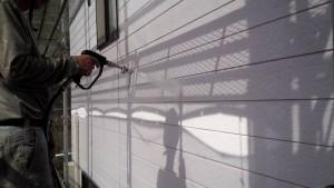 太宰府市 S様邸 塗装工事 外壁 高圧洗浄