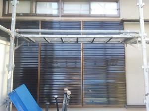 筑紫野市 塗装工事 H様邸 雨戸塗装 完了