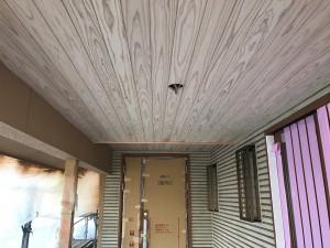 小郡市 新築 塗装工事 軒裏 木部塗装 施工前