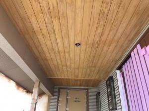 小郡市 新築 塗装工事 軒裏 木部塗装 完了