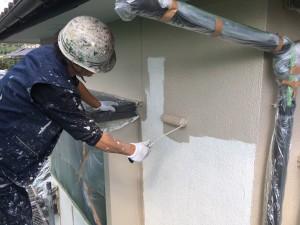 筑紫野市 塗装工事 H様邸 外壁塗装 中塗り
