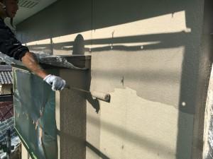 筑紫野市 塗装工事 H様邸 外壁塗装 上塗り