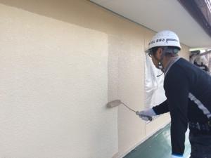 筑紫野市 塗装工事 上塗り2回目