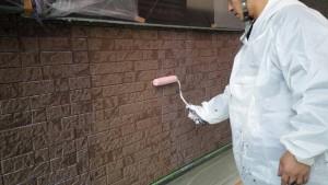 太宰府市 N様邸 塗装工事 外壁塗装 下塗り
