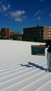 福岡市 東区 フクショク スーパー 屋根塗装工事 完了