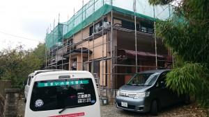 太宰府市 塗装工事 N様邸 外壁屋根改修工事 施工中
