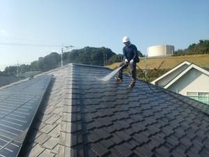 福岡県 基山町 M様邸 塗装工事 屋根 高圧洗浄
