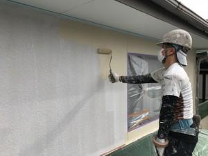 筑紫野市 塗装工事 上塗り1回目