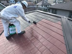 筑紫野市 T様邸 塗装工事 屋根 上塗り 塗装