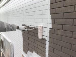 基山町 塗装工事 M様邸 外壁 下塗り