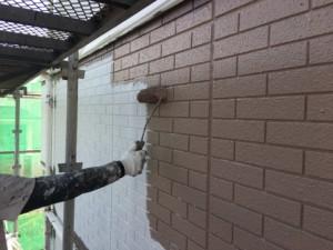 基山町 塗装工事 M様邸 外壁 中塗り