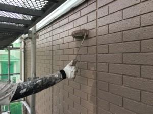 基山町 塗装工事 M様邸 外壁 上塗り