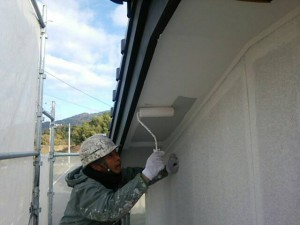 太宰府市 M様邸 塗装工事 軒裏塗装 水性ケンエース