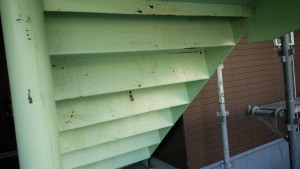 福岡県 粕屋郡 塗装工事 篠栗アパート 鉄骨階段 施工前