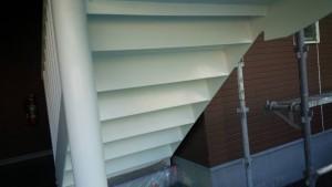福岡県 粕屋郡 塗装工事 篠栗アパート 鉄骨階段 錆止め 完了
