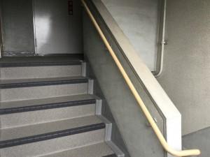 大野城市 リバーサイドシブタ マンション 内部階段 塗装工事 施工前