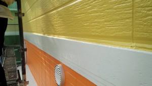 篠栗町 アパート塗装工事 帯 完了