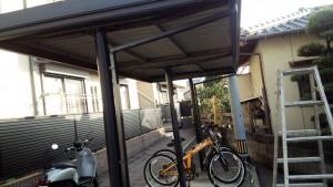 福岡市南区 アパート 駐輪場 塗装工事 施工前
