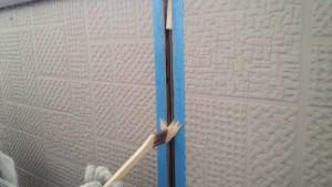 筑紫野市 塗装工事 F様邸 外壁 シーリング プライマー施工中