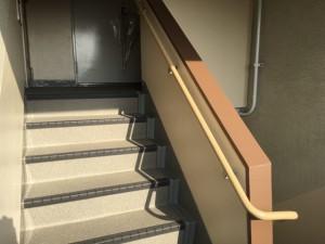 大野城市 リバーサイドシブタ マンション 内部階段 塗装工事 施工後