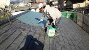 福岡県 粕屋町 アパート 塗装工事 屋根 ファインパーフェクトベスト 1回目